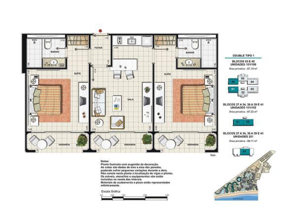 Blue tree park buzios for Plano de cocina hotel 5 estrellas